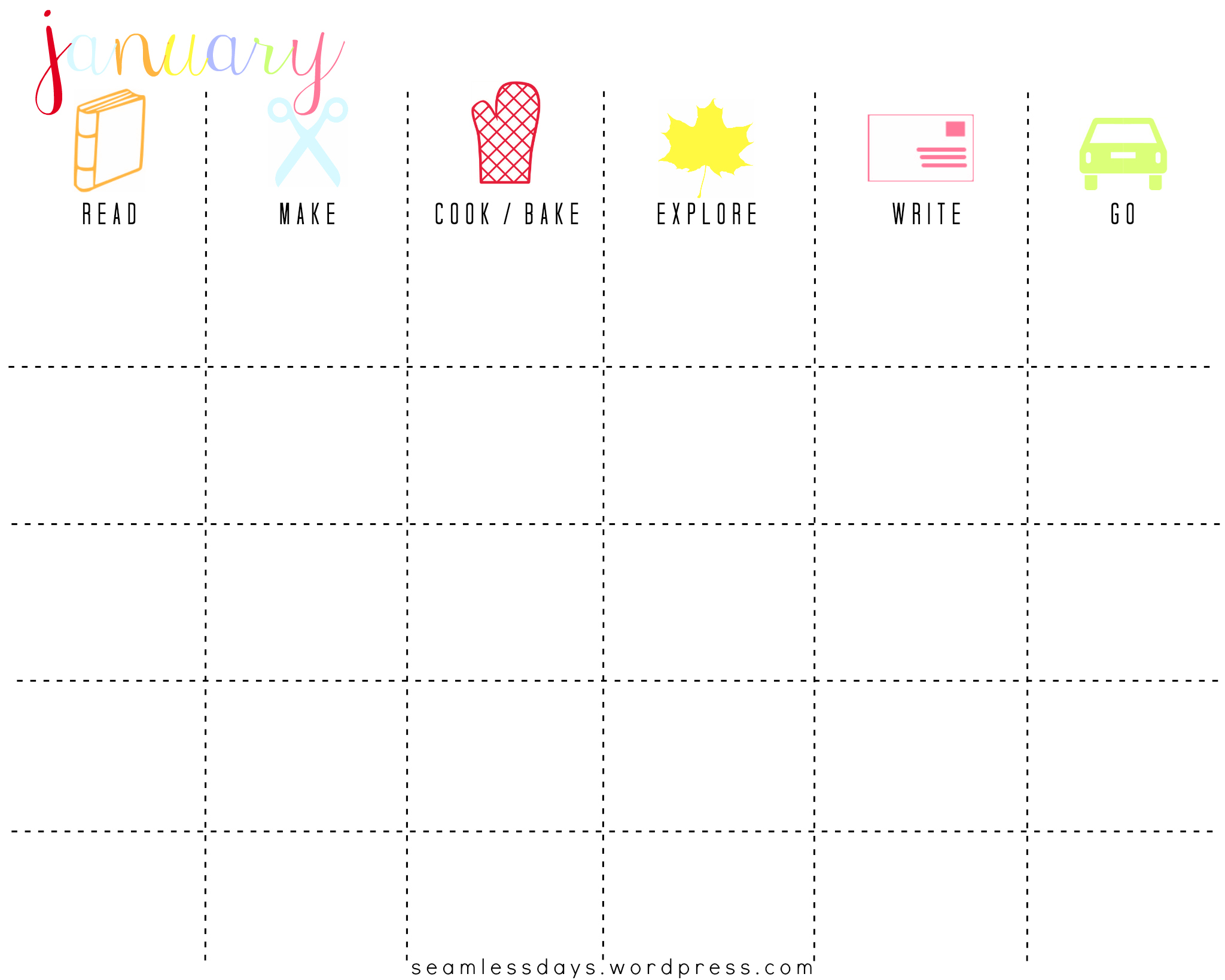 Free Printable Family Fun Planner Listening In The Litany