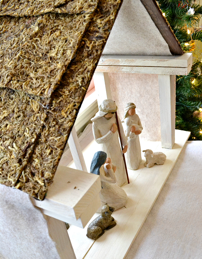 diy nativity stable