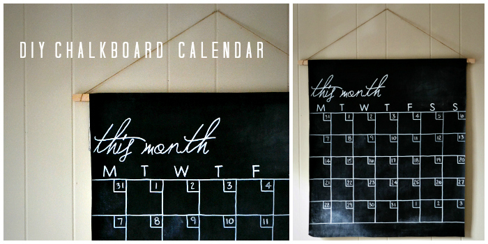 Diy Calendar On Word : Diy chalkboard calendar a tutorial