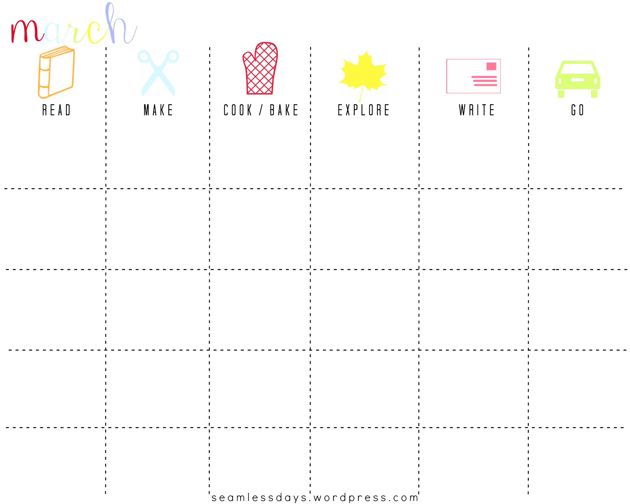 plan for fun in 2013 a free printable