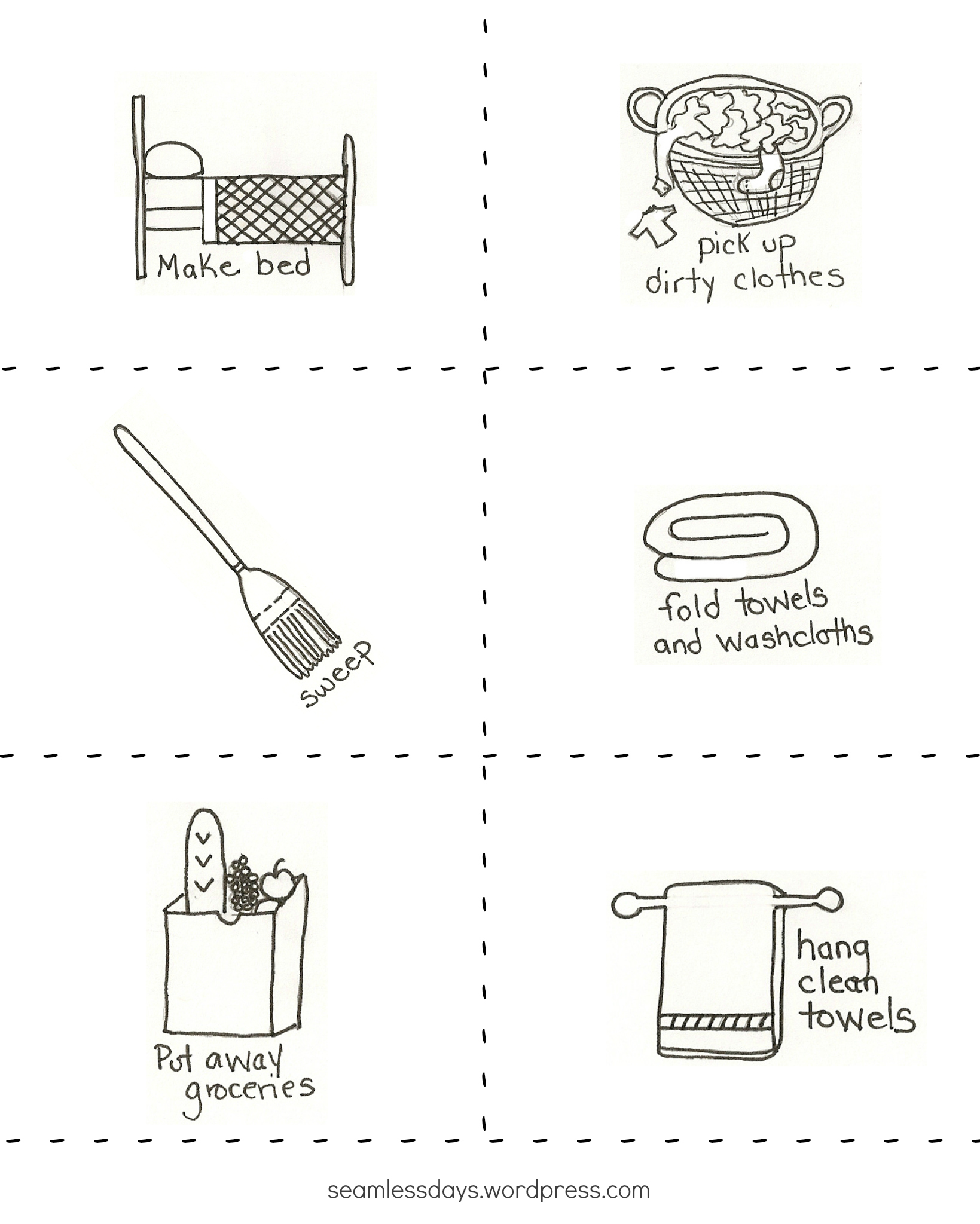 picture relating to Free Printable Chore Cards named age applicable chores and cost-free printable chore playing cards