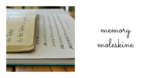 memory moleskine